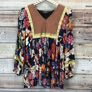 Anthropologie RD + KoKo Trimmed Peasant Top Sm